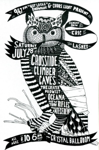 Benefit Show for Eric of The Lashes with Crosstide, Climber, Caves, Oceana, The Greater Midwest, New York Rifles, and The Antecedents, Crystal Ballroom, Portland, OR, 2007